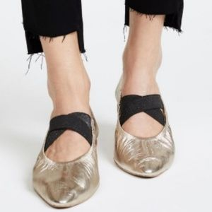 Free People Solitaire Pointed Leather Ballet Flat